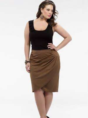 draped skirt to hide tummy