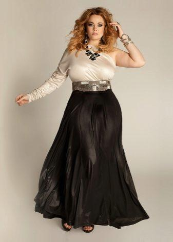 long skirt to hide belly