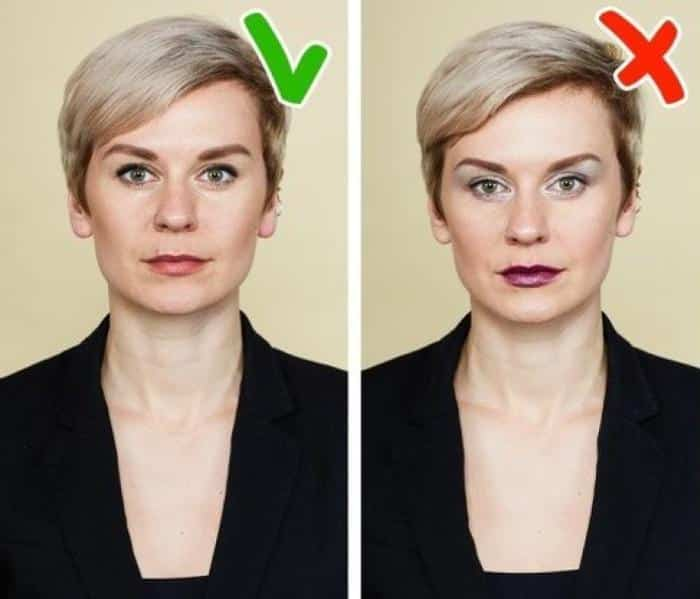Makeup for a passport photo