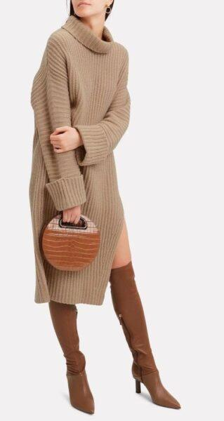 knited oversize dress