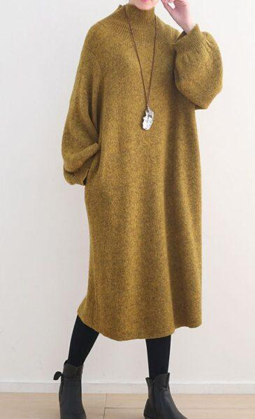 oversized knited dress