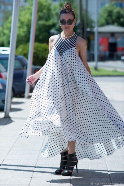 oversized polka dots dress
