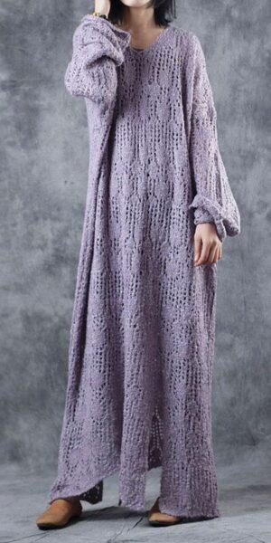 knited oversized dress