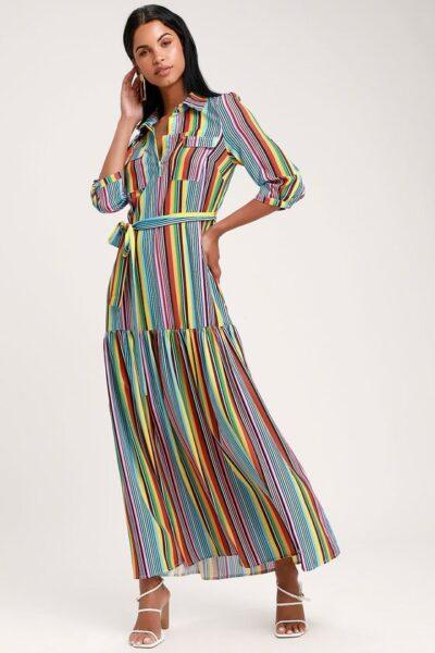 Striped dress 2020 fashion