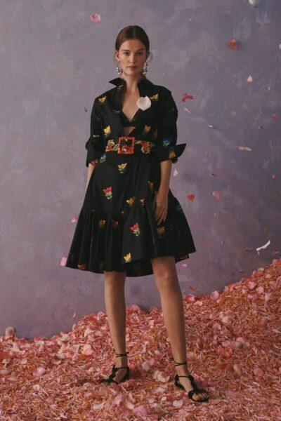 Flowery shirtdress 2020