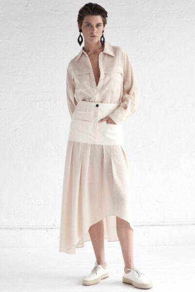 white shirtdress 2020 fashion