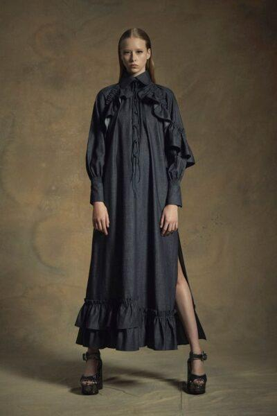 black shirtdress 2020