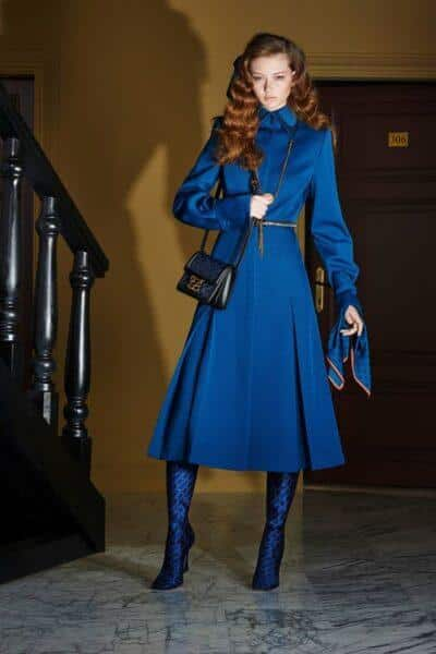 fashionable blue shirtdress 2020