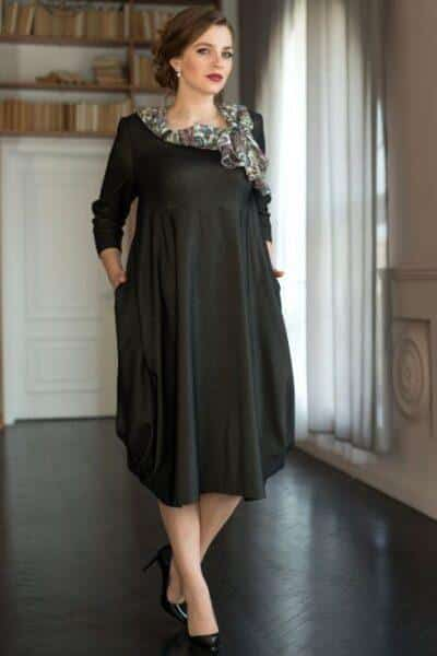 A-line dresses for plus-sized women