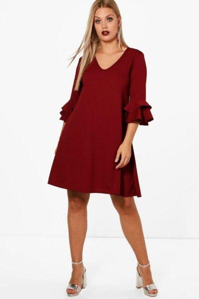 Plus size A-line dress