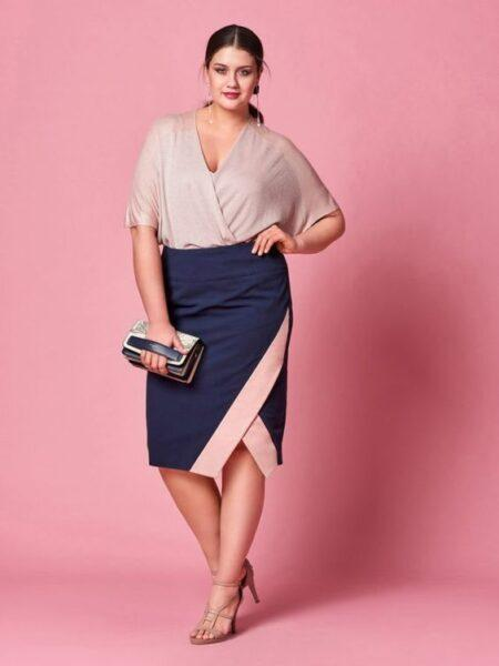 What to wear with plus size pencil-skirts