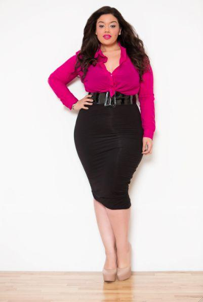 plus size pencil-skirts