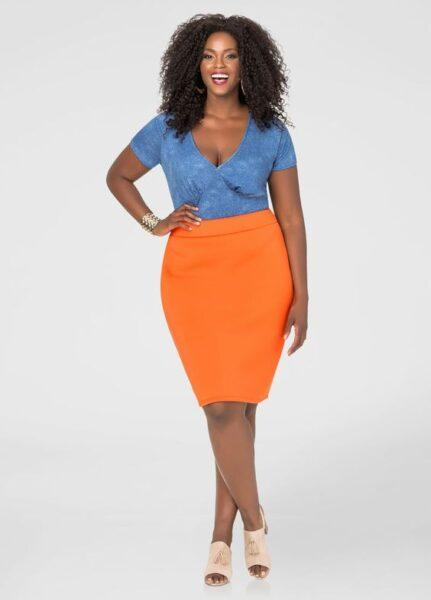 Pencil-skirts style for plump women