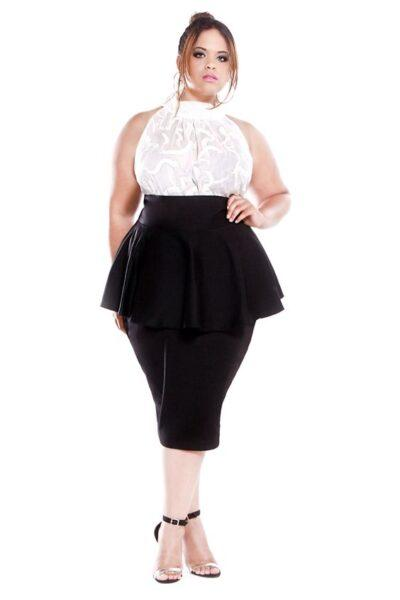 Pencil-skirt for plus-sized women