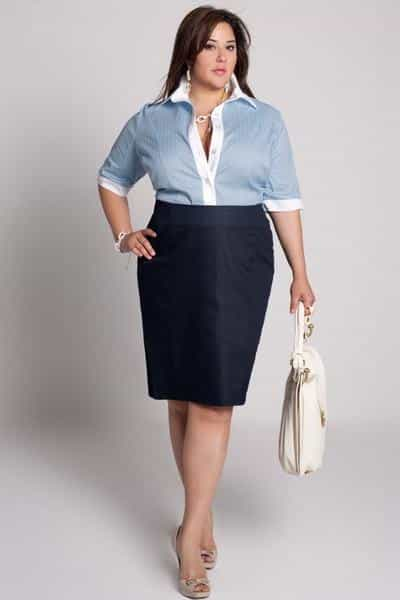 What to wear with plus size pencil skirts?