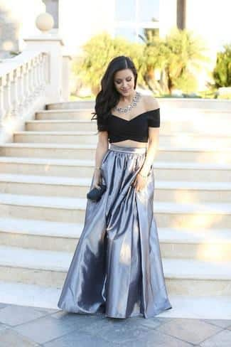 Crop Top with maxi skirt