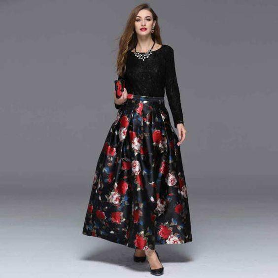 fashionable maxi skirts