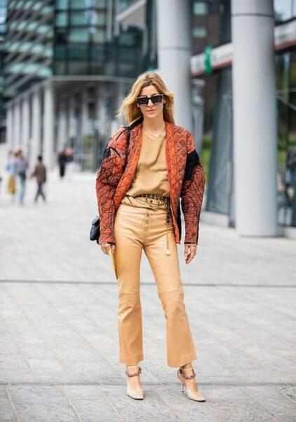 how to wear flared leather trousers