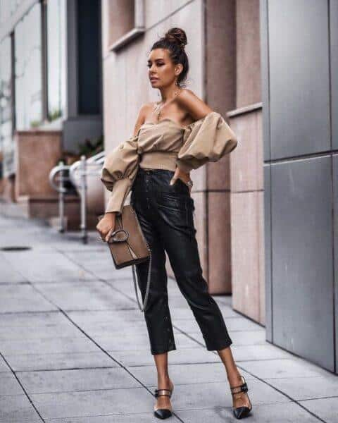 fashion leather trousers 2020