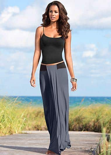 cami top with maxi skirt
