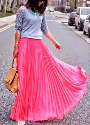 long skirt with sneakers outfit
