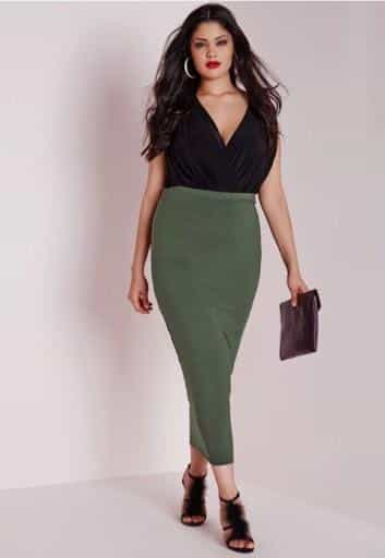 pencil skirt for a big tummy