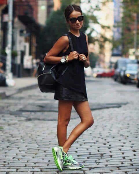 dress with sneakers outfits
