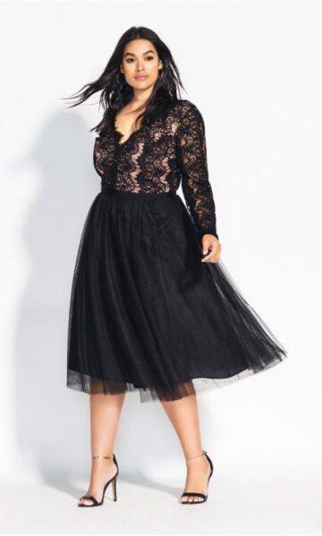 plus size lace style