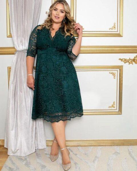 lace style for plus size woman