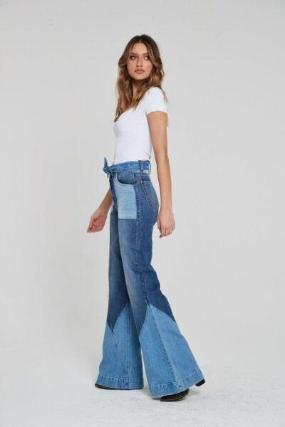 Flare from the knee jeans
