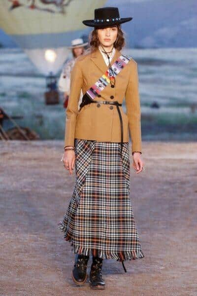 long skirt with flat boots