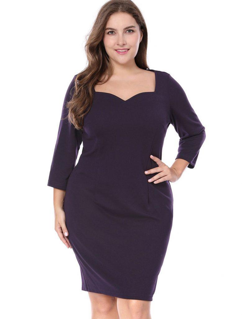 Sheath dress that hides belly