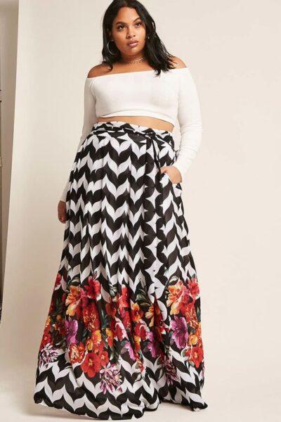 flattering skirts for big hips