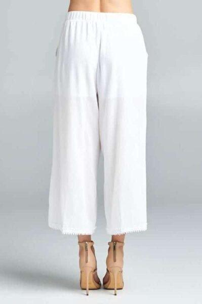 White Gaucho Pants