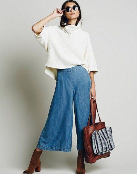 what to wear gaucho pants with