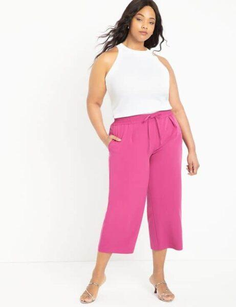 How To Wear plus sized Cropped Pants