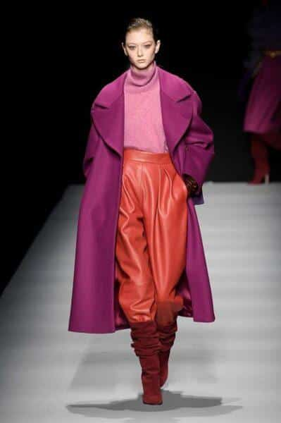 wide leather trousers 2021